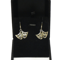 Comedy and Tragedy Mask Earrings